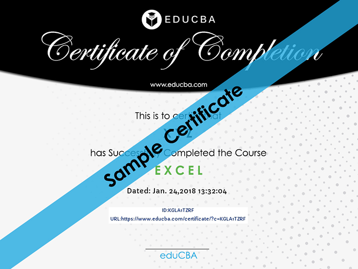 eduCBA sample certificate
