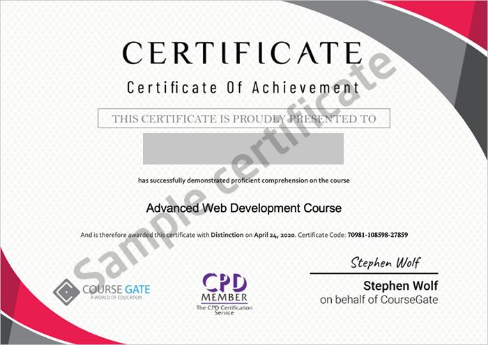 Course Gate sample certificate