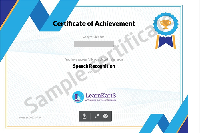 LearnKartS sample certificate