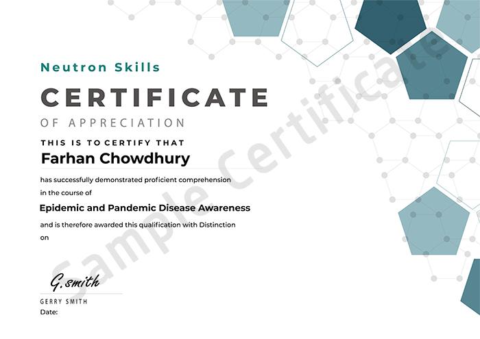 Neutron Skills sample certificate