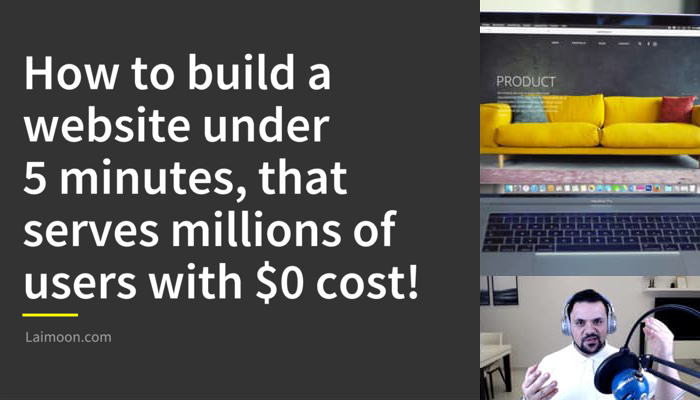 How To Build A Website Under 5 Minutes, That Serves Millions Of Users