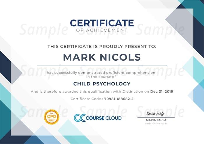 Course Cloud sample certificate