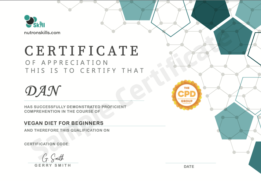 Neutron Skills sample certificate